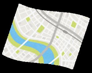 地図をみてブロック単位にわけることから始める