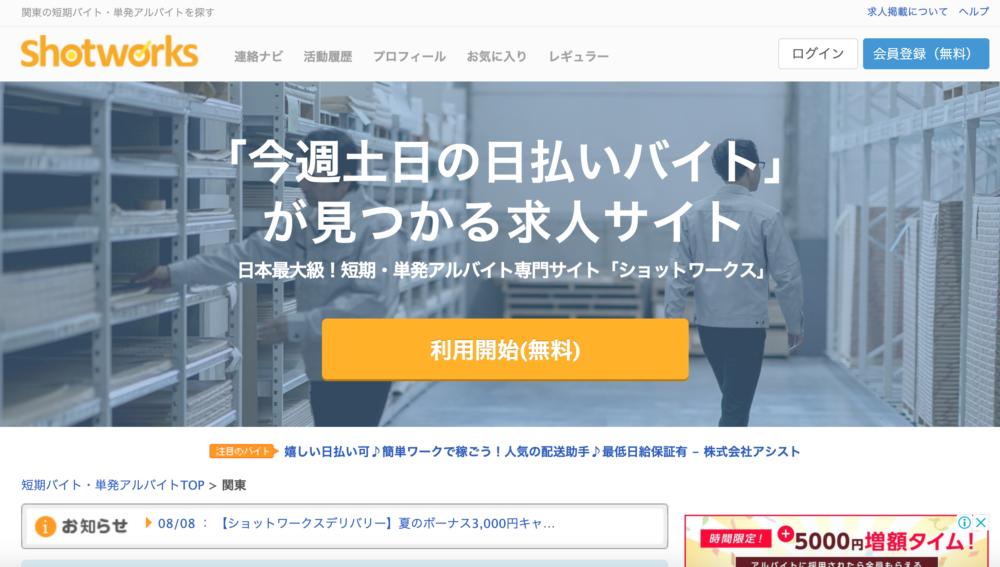 ショットワークスは求人サイト